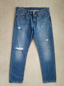 Levi's 501 T Women's Slim Tapered Distressed Button Fly Jeans Size 29 Near New