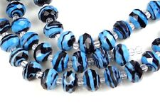 14 Czech glass Faceted Rondelle Beads - Swirl 12x8mm Choose Color