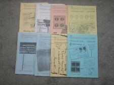 8 Issues of The Overprinter, Gb Ovderprints Society Magazine Dated 1994 - 99