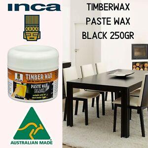 Inca Timberwax Paste Wax Beeswax Furniture Wax Polish Black 250gr