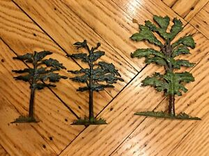 Vintage Britains Toy Farm Trees - Made in England - set of three lead trees