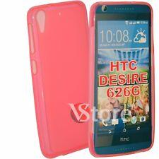 COVER Per HTC DESIRE 626 /626G+/626S/D626/626W Custodia Silicone TPU Fucsia