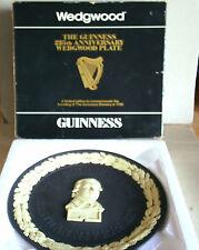 Wedgwood Jasperware Black & Cane Guinness 225th Plate