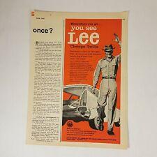 Vtg H.D. Lee Co. Chetopa Twills Stationwagon 1958 Print Ad Magazine Advertising