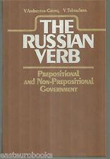 The Russian verb Prepositional Non-prepositional Government 1987