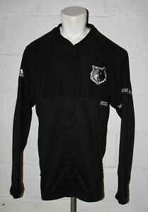 USED Adidas Minnesota Timberwolves Wolves Snap Front Warm Up Shooting Jacket 3XL