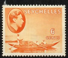 1938 Seychelles Sg 137 6c orange Mounted Mint