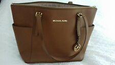Genuine Michael Kors Jet Set Saffiano Leather Tote Bag, Brown- GC