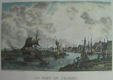 Lithographie en couleur sur vergé d'après Bonnard du Hanlay le port du Croisic