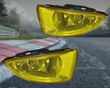 2004-2005 Honda Civic 2/4 DR Yellow Bumper Driving Fog Lights Pair w/Lamp