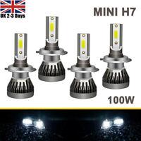4x MINI H7 55W SUPER WHITE XENON LED HEADLIGHT BULBS SET HID 499 12V FULL/DIPPED