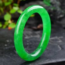 58-60mm Natural Emerald Green Jadeite Jade Bangle Bracelet Handmade