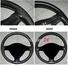 Kit Rigenera Colore Volante Pelle BMW NERO Ritocco cura Interni rinnovo Spallina