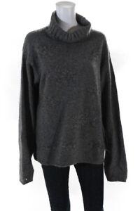 Ermenegildo Zegna Womens Cashmere Long Sleeve Turtleneck Sweater Gray Size M