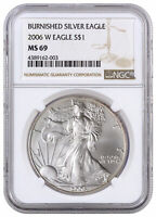 2006 W Burnished 1 oz. American Silver Eagle $1 NGC MS69 SKU16889