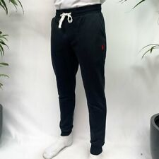 POLO RALPH LAUREN NEW MENS CUSTOM FIT CUFFED JOGGERS TRACKSUIT BOTTOMS BLACK RED