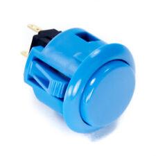 Sanwa OBSF-24mm Snap-in Button-BLUE-OEM