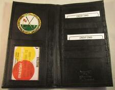 18th HOLE GOLF BLACK LEATHER BIFOLD CHECKBOOK WALLET CARD HOLDER