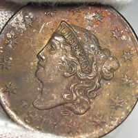 1817 N-14 Coronet Or Matron Head Large Cent, 13 Stars, Randall Hoard Variety