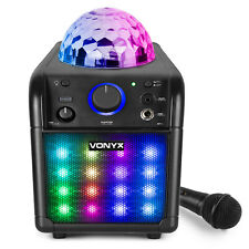 More details for vonyx 178.342 sbs50b-plus karaoke speaker set with microphone, lights, bluetooth