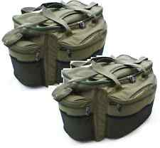 2 x large verde NGT pesca carpa CARRYALL BORSONE Tackle holdalls carpa affrontare conservare in frigorifero