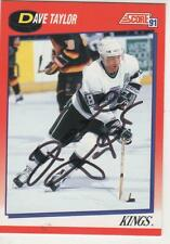 DAVE TAYLOR SIGNED 1991-92 SCORE #214 - LOS ANGELES KINGS