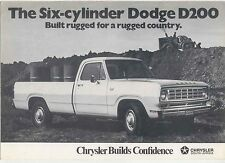 Dodge D200 6 Cylinder Pickup & Chassis-Cab Original South African Sales Brochure
