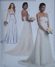 simple strapless WEDDING BRIDAL GOWN DRESS 14 16 18 20 22 princess lines ELEGANT