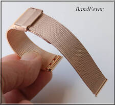 Clearance 18mm ALL ROSE GOLD MESH WATCH BAND FITS ANY WATCH Plus spring Pins
