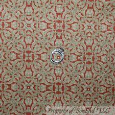 BonEful Fabric Cotton Quilt Brown Flower Ethnic Egyptian Decor Goth Damask SCRAP