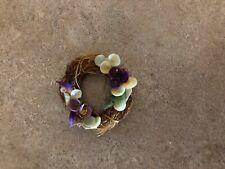 MINIATURE DOLLHOUSE tiny wreath with flowers CUTE