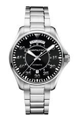 New Hamilton Khaki Aviation Pilot Auto ST Steel Black Dial Men's Watch H64615135