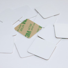10 30x30mm White Hard PVC NFC Tag NTAG216 iPhone Samsung Sony LG Android IOS