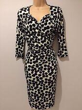 BNWT Savoir Confident Curves Secret Support Black Wrap Effect Dress Size 14