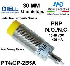 Inductive Prox. Sensor DIELL Unshielded 30mm 10 to 30VDC PNP PT4/OP-2B5A NO/NC
