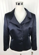 Tahari Aruthur S Levine Luxe Edward Blazer Jacket Womens 8 Navy Formal New NWT