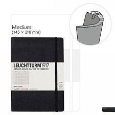 Notizbuch Medium (A5) Softcover, 121 nummerierte Seiten, Schwarz, liniert