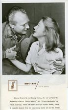 LESLEY WOODS STAATS COTSWORTH SMILING LONE JOURNEY ORIGINAL 1948 ABC TV PHOTO