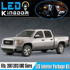 11X For 2007-2013 GMC Sierra Pickup Interior LED Light Package Kit Combo White