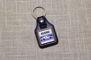 Ford Escort Mk2 RS2000 Keyring - Leatherette & Chrome Keyfob