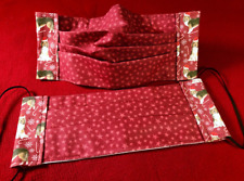 Adult Sable Collie Sheltie Christmas Cranberry Star Face Masks 100% to Rescue