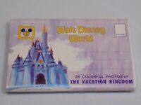 Walt Disney World Productions 26 Colorful Photo Postcards Folder Album Vintage
