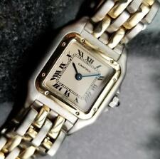 Cartier Panthere 1990s Ladies 18k Gold & SS Luxury Quartz Original Watch MA88