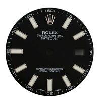 New Original Rolex Black Index Dial for Datejust II 41MM 116300 & 116334 Watch