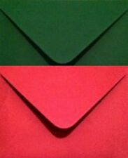 C6 Envelopes Christmas Colours (Red, Green or Combination) Pack of 40