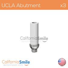 3x Titanium base UCLA Original Abutment For Dental Implant Internal Hex
