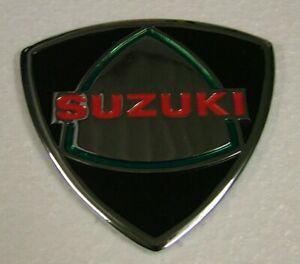 SUZUKI ENGINE COVER BADGE for RE5 M, A, 1975 1976 BRAND NEW Metal Emblem SE01