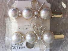 Elegant Hair Clip Alloy Pearl Hairpin Headdress Accessories for Women Girl