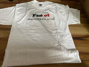 Indycar/ARCA/NASCAR driver MILKA DUNO, Extremely Rare AUTOGRAPHED JERZEES TEE