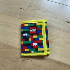 New Lego Wallet Heritage Red/Blue Brick Print